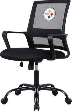 Tough Match NFL Pittsburgh Steelers Black Desk Chair