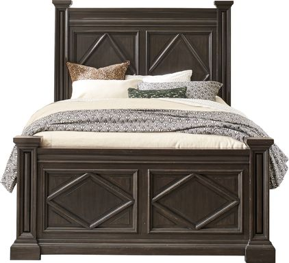 Trail Woods Black 3 Pc Queen Bed