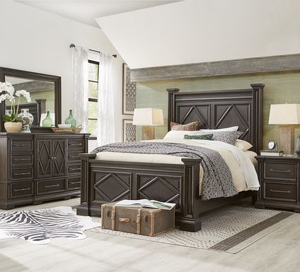 Trail Woods Black 5 Pc King Bedroom