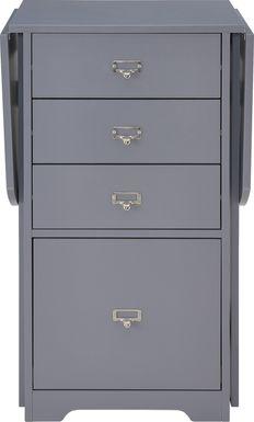 Travia Gray Folding Desk