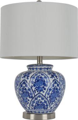 Trelon Blue Lamp