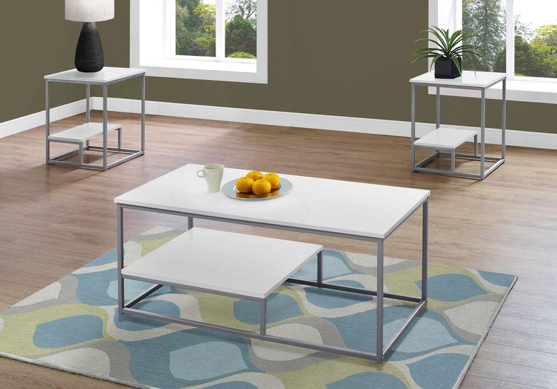 trendal-white-3-pc-table-set
