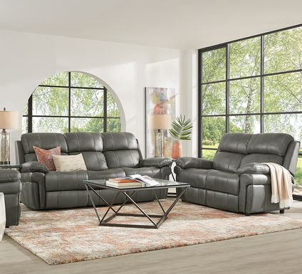 Trevino Place Smoke Leather 3 Pc Living Room with Reclining Sofa