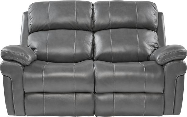 Trevino Place Smoke Leather Loveseat