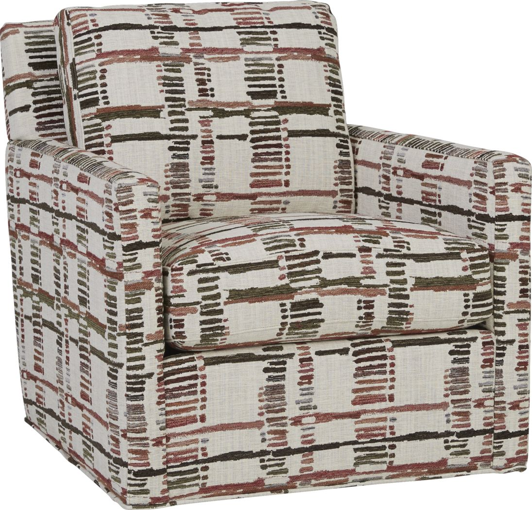 Cindy Crawford Home Tribeca Loft Beige Accent Swivel Chair