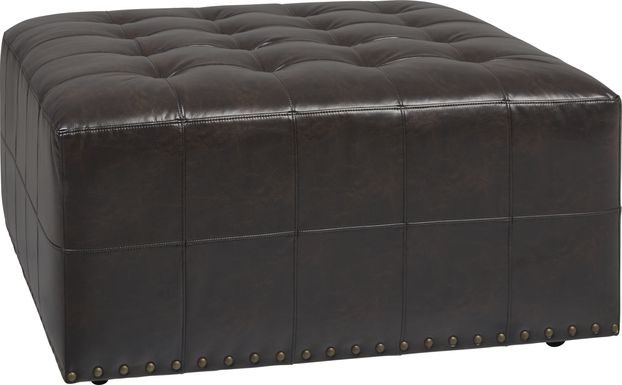 Cindy Crawford Home Tribeca Loft Brown Cocktail Ottoman