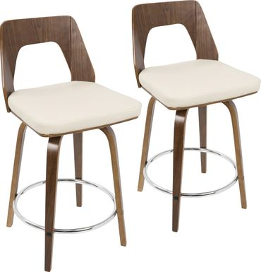 Trilogy Cream Counter Height Stool (Set of 2)