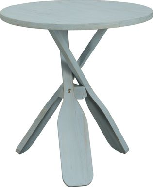 Triple Paddle Blue Accent Table