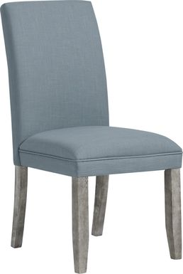 Tulip Blue Side Chair with Gray Legs