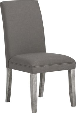 Tulip Gray Side Chair with Gray Legs