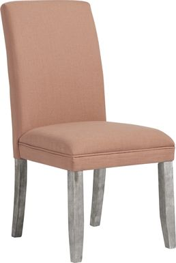 Tulip Curry Side Chair with Gray Legs