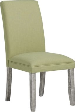 Tulip Green Side Chair with Gray Legs