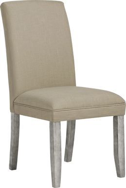 Tulip Portobello Side Chair with Gray Legs