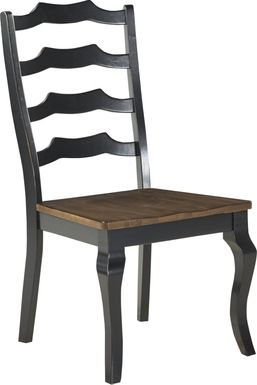 Twin Lakes Black Ladder Back Side Chair