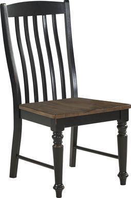 Twin Lakes Black Slat Side Chair
