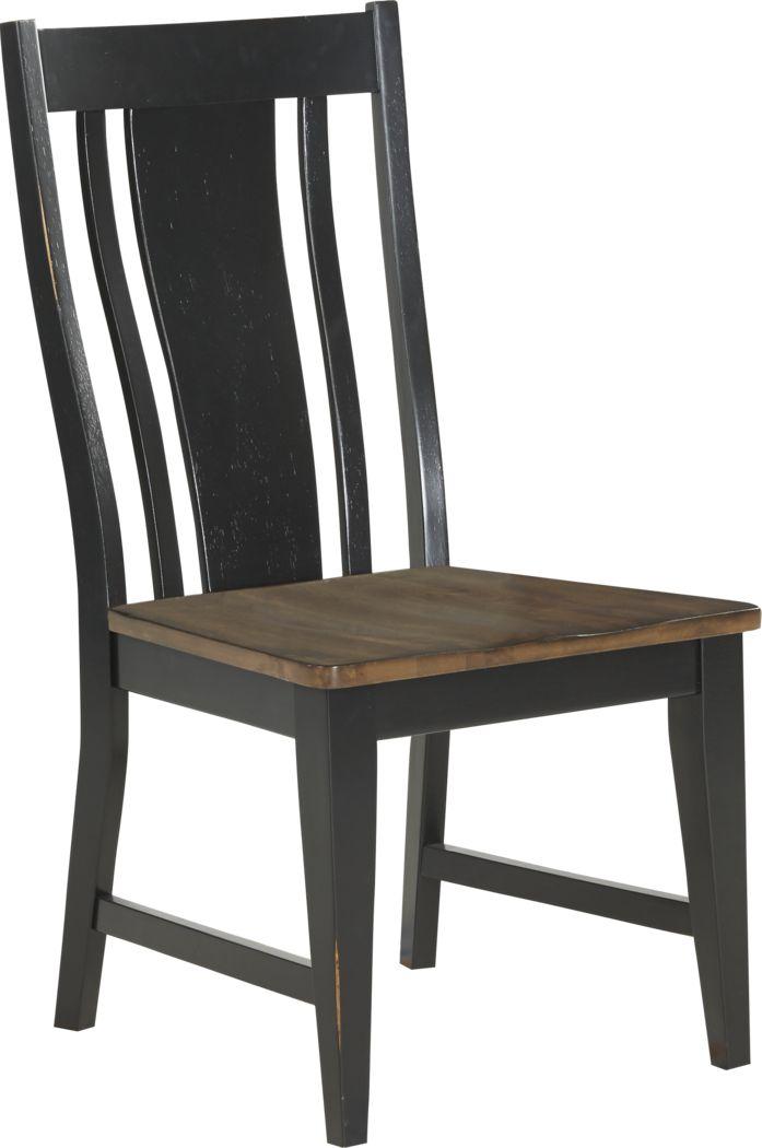 Twin Lakes Black Splat Back Side Chair