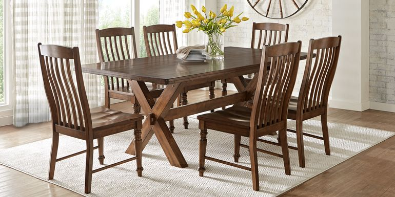 Twin Lakes Brown 5 Pc 84 in. Rectangle Dining Room