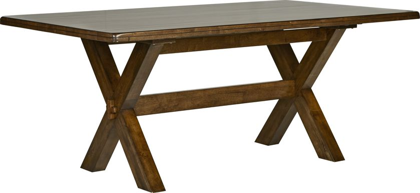 Twin Lakes Brown 72 in. Rectangle Table