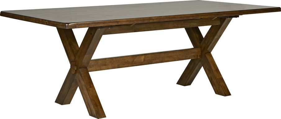 Twin Lakes Brown 84 in. Rectangle Table