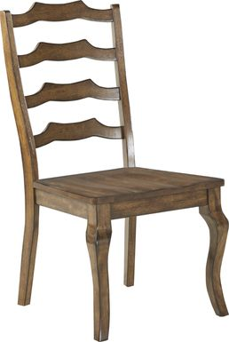 Twin Lakes Brown Ladder Back Side Chair