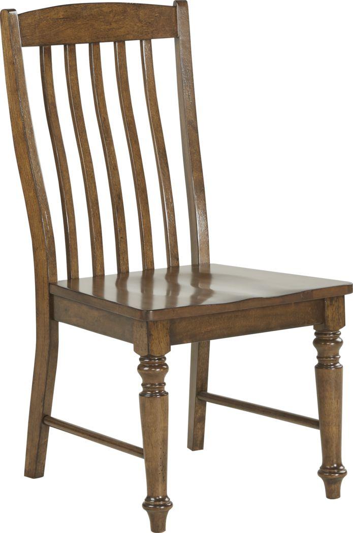 Twin Lakes Brown Slat Side Chair