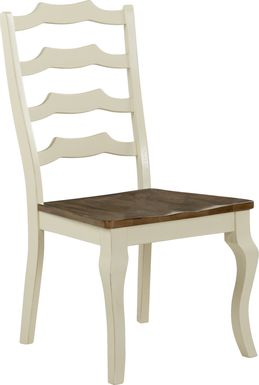 Twin Lakes Off-White Ladder Back Side Chair