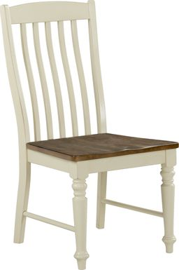 Twin Lakes Off-White Slat Side Chair