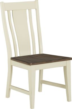 Twin Lakes Off-White Splat Back Side Chair