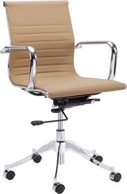 Tyler Place Tan Desk Chair