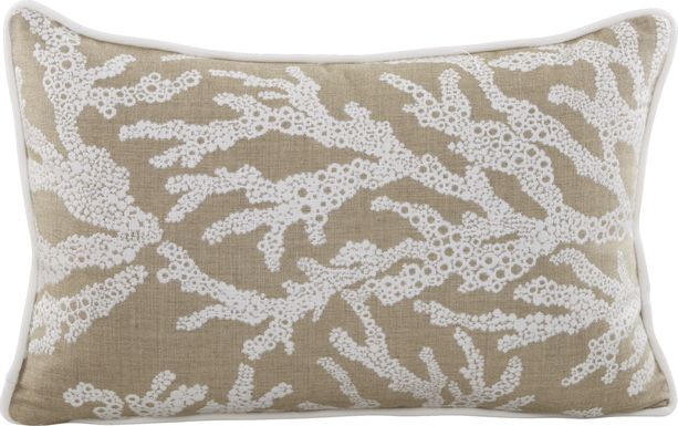 Coral Sand Beige Indoor/Outdoor Accent Pillow