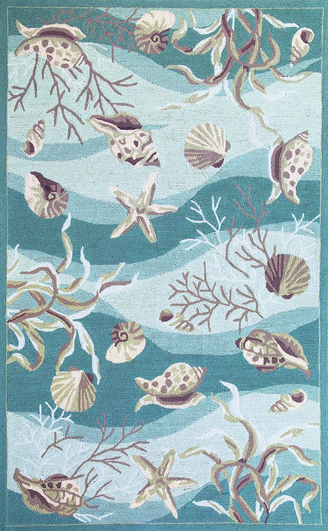 Under the Sea Adventures Blue 5' x 7'6 Rug