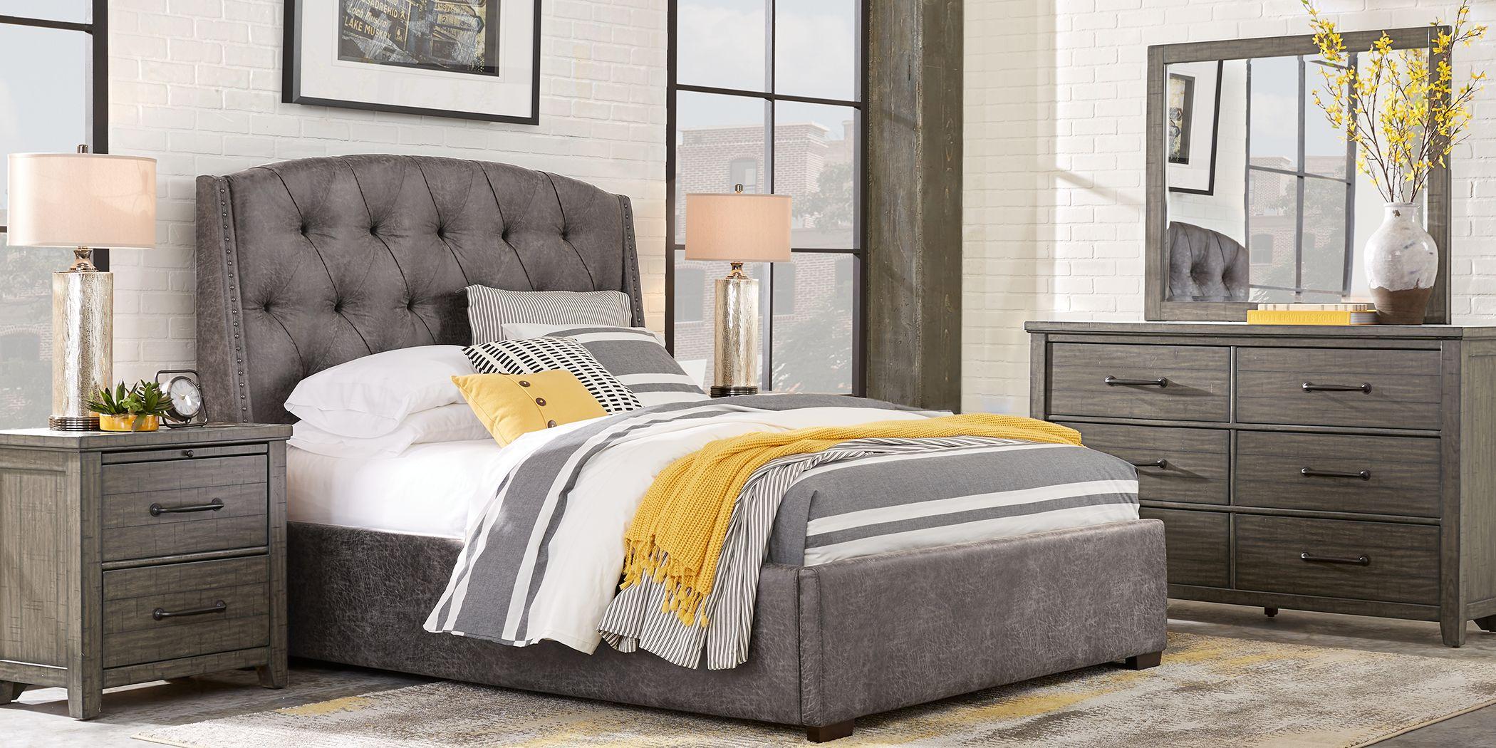 Urban Plains Gray 5 Pc King Upholstered Bedroom