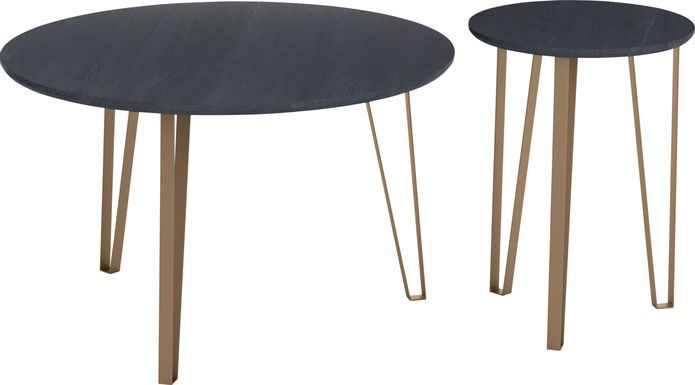 Vailmount Black Accent Table, Set of 2