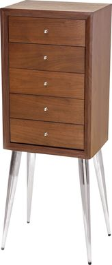 Valbrook Brown Jewelry Armoire