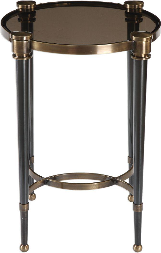 Valdena Brass Accent Table