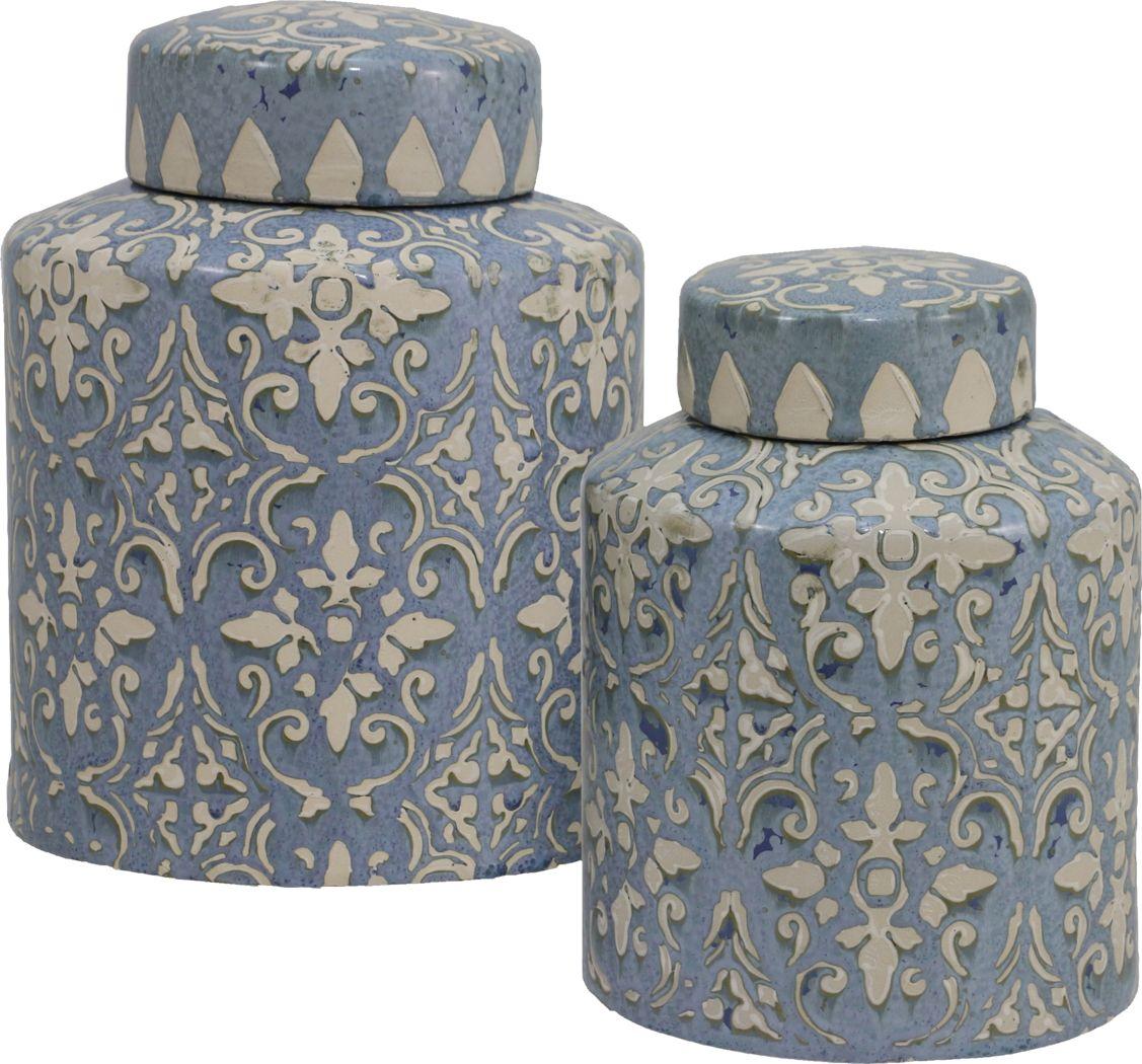 Valdis Blue Urns Set of 2