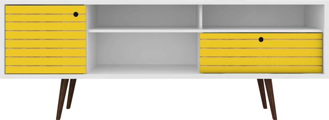 Vallar White/Yellow 71 In. Console