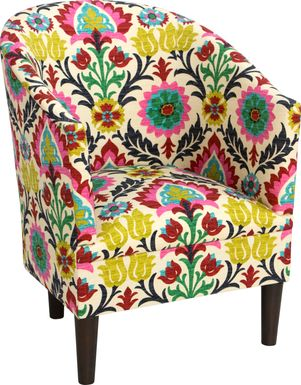 Vallie Green Floral Chair