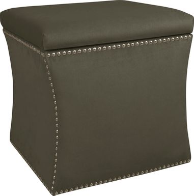 Vallie Pewter Storage Ottoman
