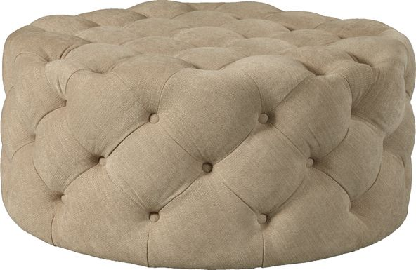 Vanessa Light Brown Cocktail Ottoman