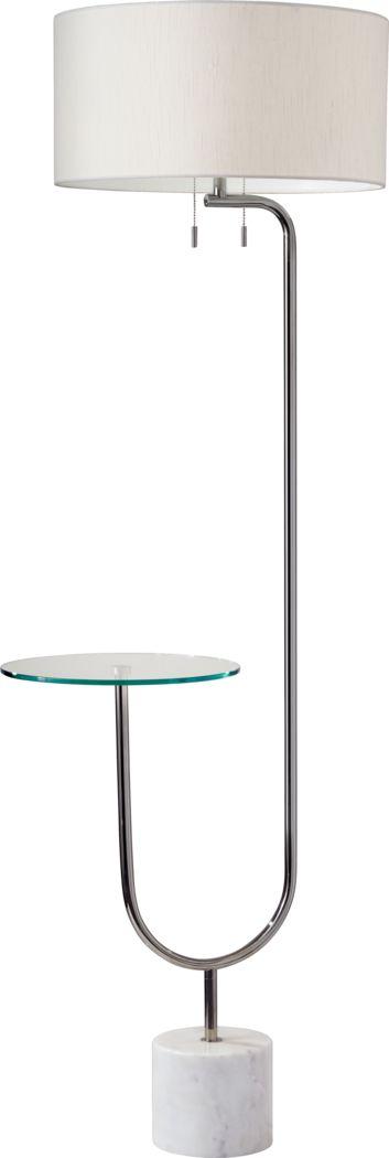 Vannely Nickel Floor Lamp