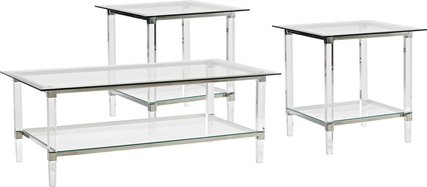 Varna Silver 3 Pc Table Set