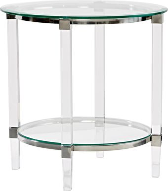 Varna Silver Round End Table