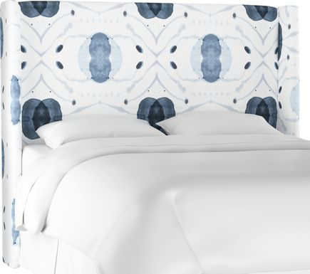 Vashti Blue King Upholstered Headboard