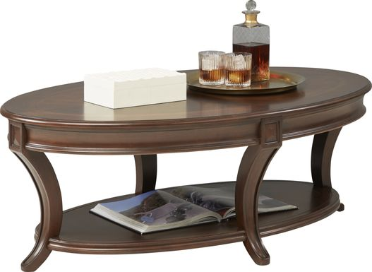 Veckerton Brown Cherry Cocktail Table