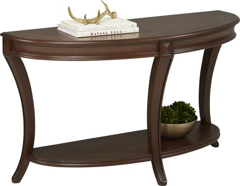 Veckerton Brown Cherry Sofa Table