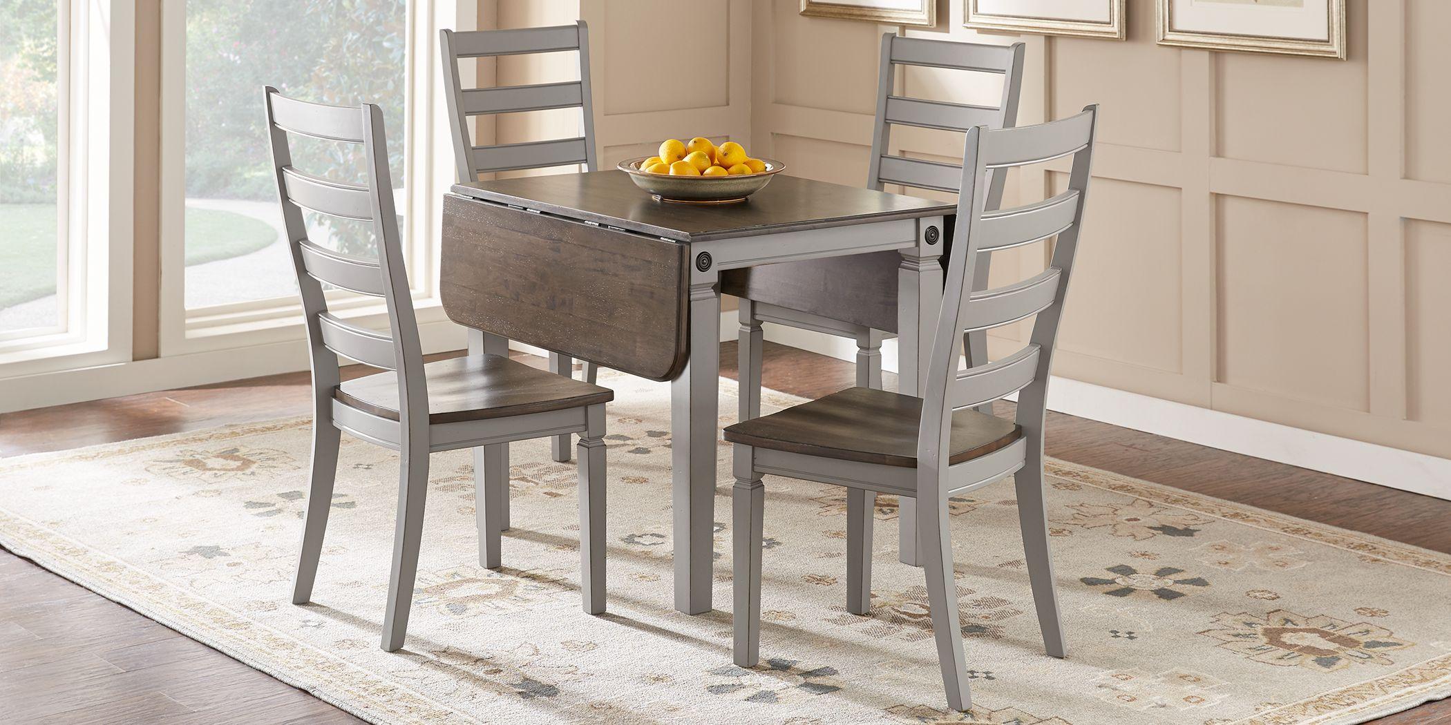 Velino Gray 5 Pc Rectangle Dining Set