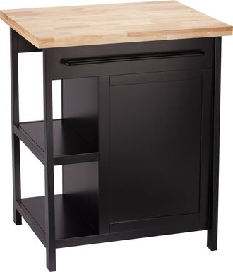 Velmont Black Kitchen Island