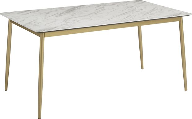 Venetian Court Gold Rectangle Dining Table