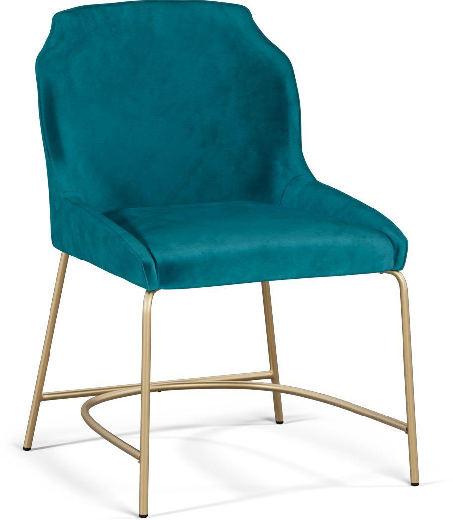Venetian Court Teal Side Chair